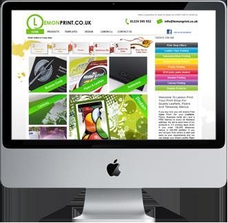 Website design lemon print