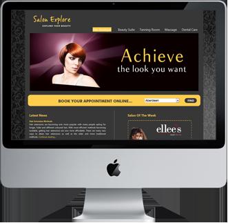 Website design salon explore